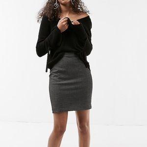 Express Gray High Waisted Pencil Skirt